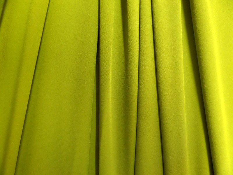 1.Chartreuse Stretch Crepe