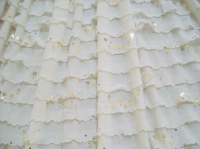 1.Cream With Gold Sequins Salsa Ruffles