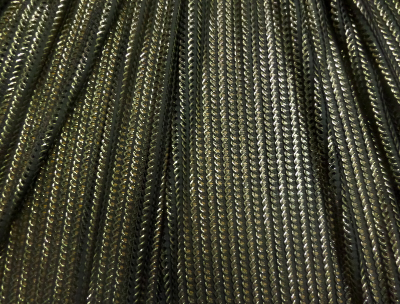 1.Gold-Black Chainmail Mesh