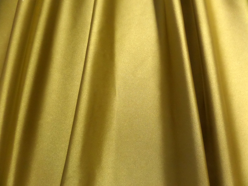 1.Gold Stretch Satin Deluxe