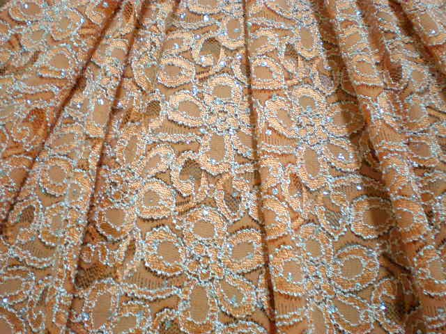 1.Orange Glitter Lace