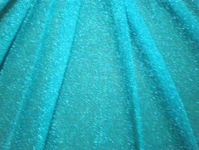 1.Turquoise-Silver Sparkling Novelty Mesh