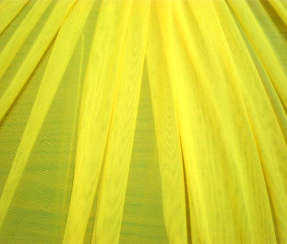 1.Yellow Plain Soft Stretch mesh