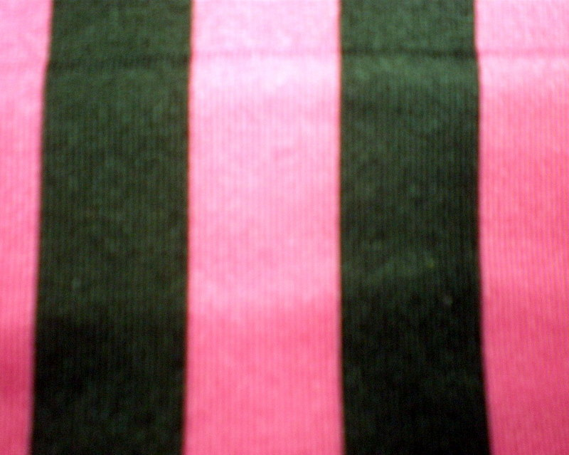 "10.Fuchsia-Black 1/2"" 4Way Stripes"