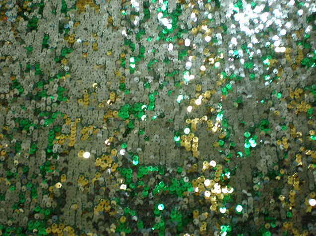 10.Green-Gold-Silver Gypsy Sequins