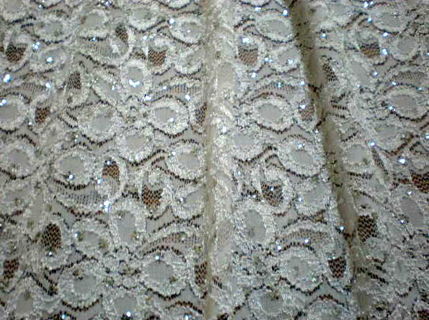 10.White Glitter Lace