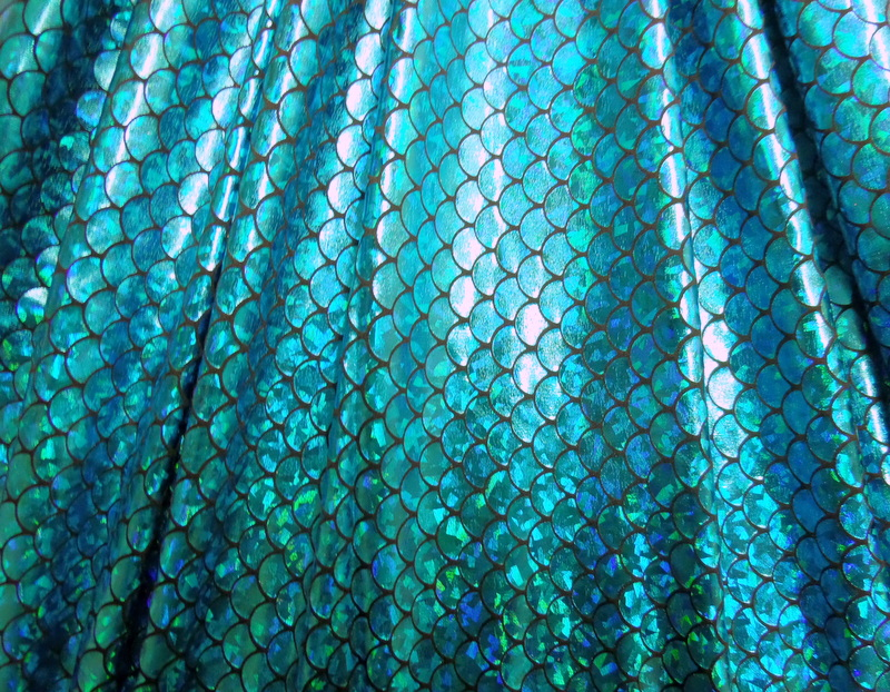 11.Turquoise Fish Scale Hologram Foil