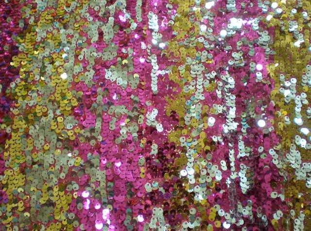 11.Fuchsia-Gold-Silver Gypsy Sequins
