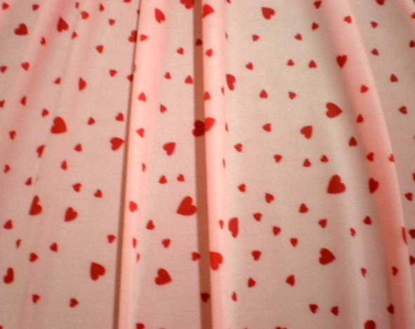 11.Pink-Red Candy Heart Special Printed Spandex