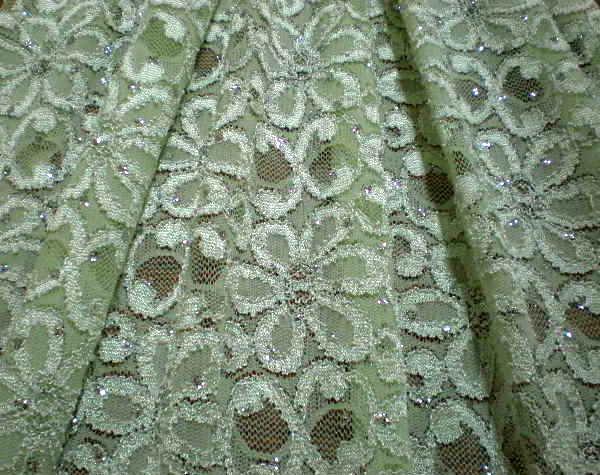 12.Mint Glitter Lace