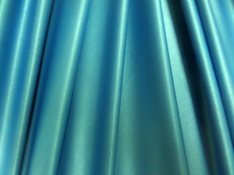 12.Teal Stretch Satin Deluxe