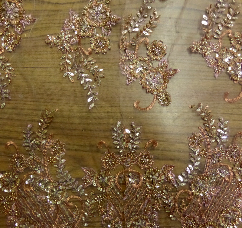 13.Lt.Copper Beaded Lace SP