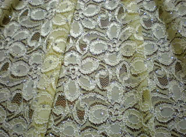 13.Lt.Yellow Glitter Lace