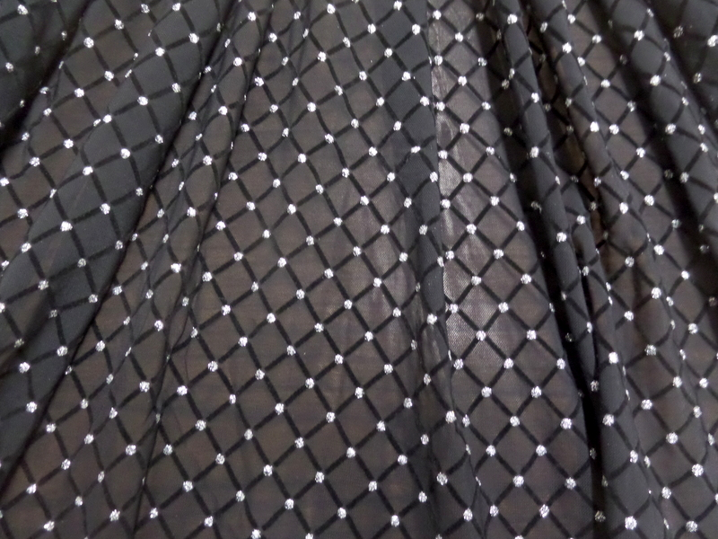 5.SILVER-BLACK GLITTER DIAMOND MESH