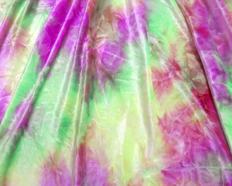 5.Magenta-Lime Tye-Dye Velvet #3