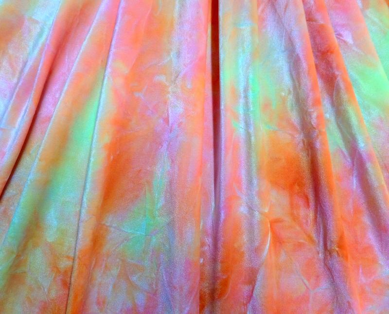 4.Orange-Lt.Yellow Tye-Dye Velvet #3
