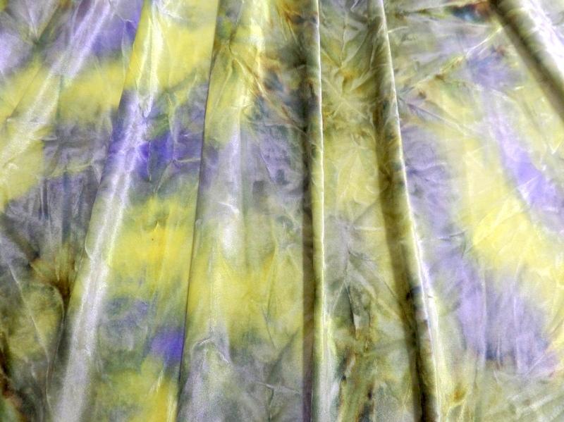 3.Olive-Lavender Tye-Dye Velvet #3