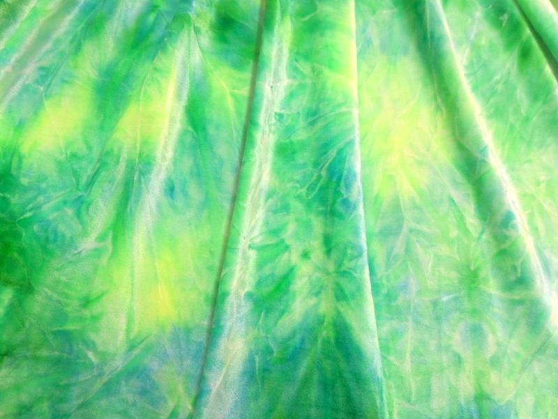 2.Green-Lt.Yellow Tye-Dye Velvet#3