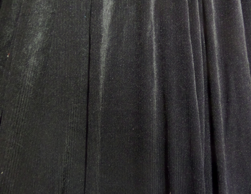 2.Black Herringbone Spandex