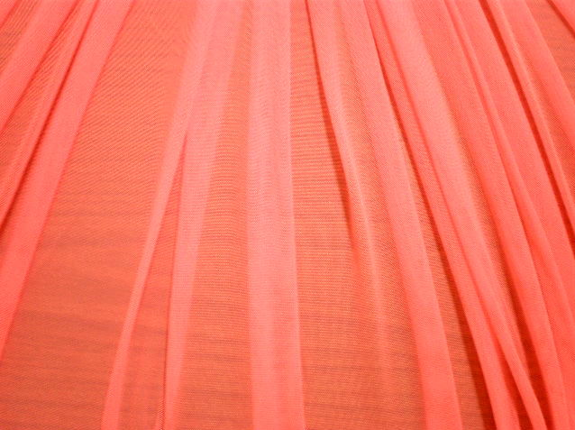 2.Coral Plain Soft Stretch mesh