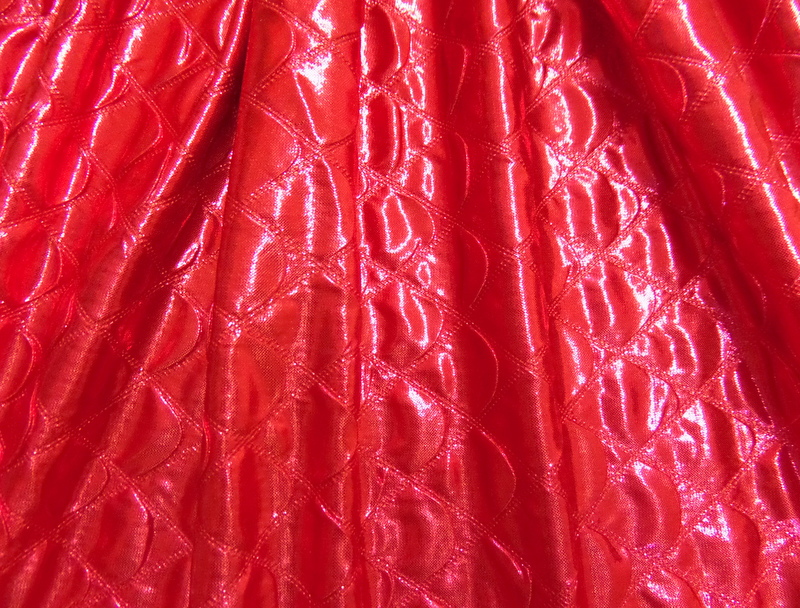 2.Red Quilted Foil