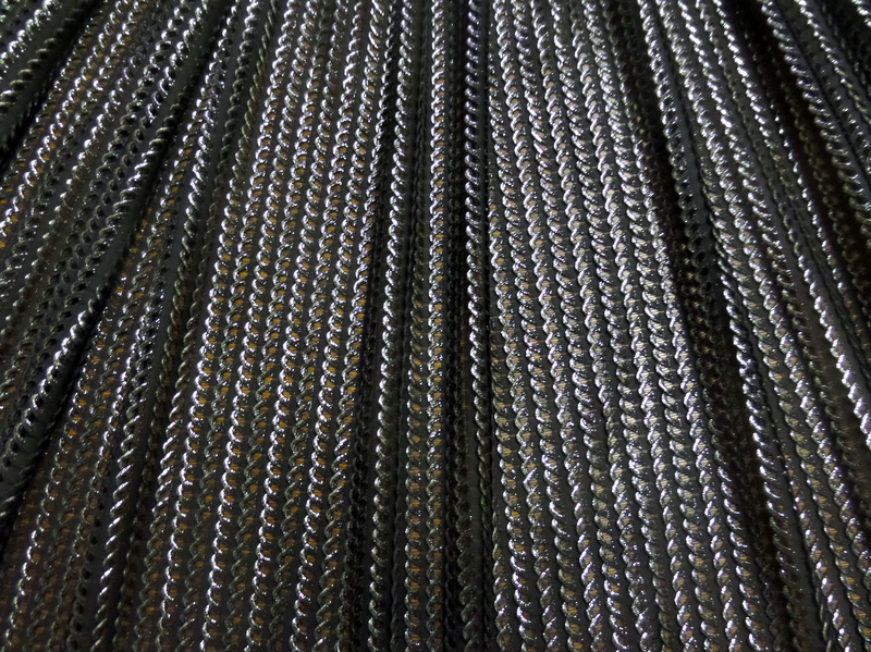 2.Silver Black Chainmail Mesh