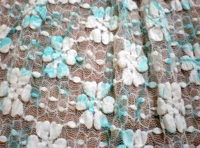 2.White-Turquoise Tie Dye Lace