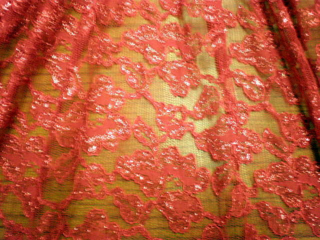 3. Red Metallic Lace