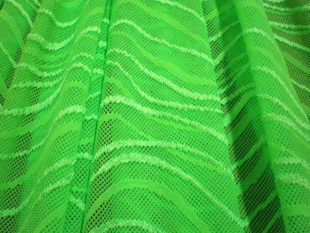 3.Lime Wavy Lace