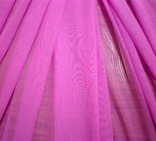3.Magenta Plain Soft Stretch mesh
