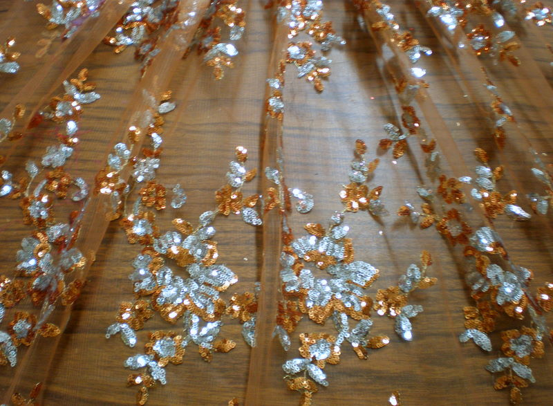 4.Copper-Silver Arun Flower Sequins