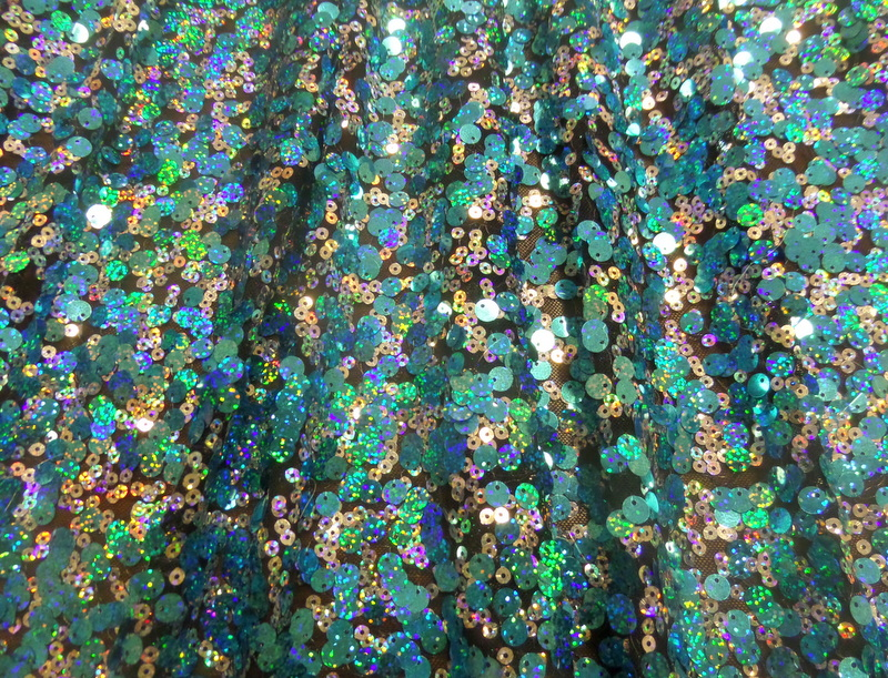 4.D.Turquoise-Silver Double Holo Sequins
