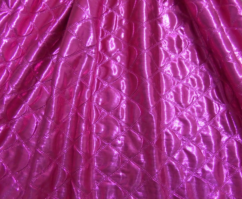 4.Fuchsia Quilted Foil