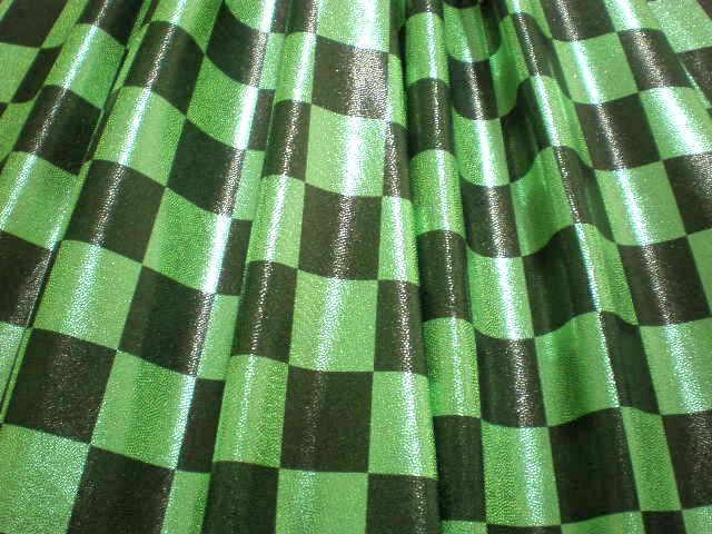 4.Lime-Black Misty Dot Checker