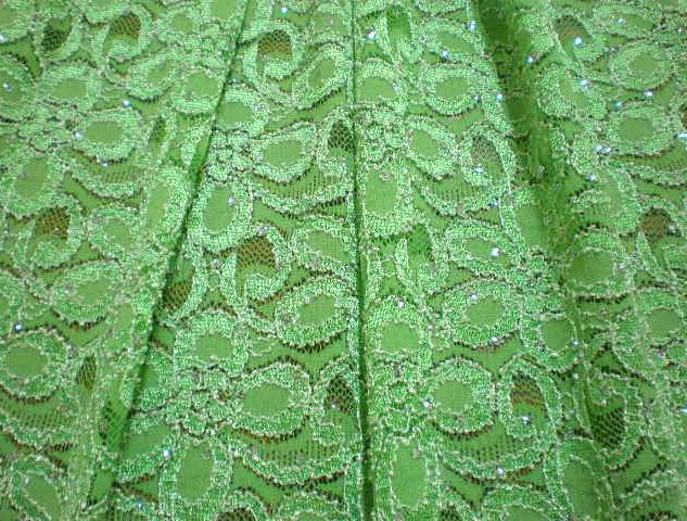 4.Lime Glitter Lace