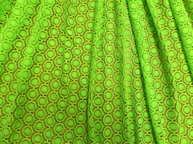 4.N. Lime Victorian Stretch Lace