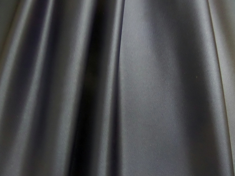 4.Navy Stretch Satin Deluxe