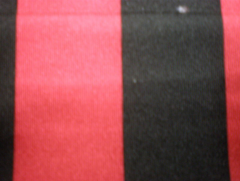 "4. Red-Black 1"" Stripes 4Way"