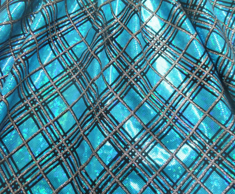 4.Turquoise Broken Glass Diagonal Checker