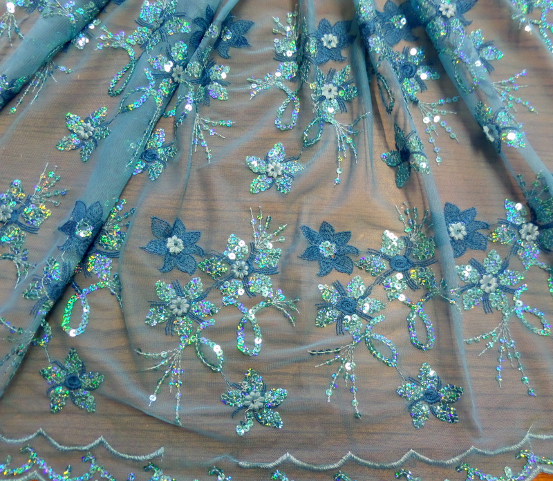 4.Turquoise Venice Sequins