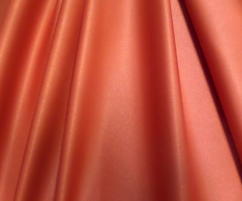 5.Dark Orange Stretch Satin Deluxe