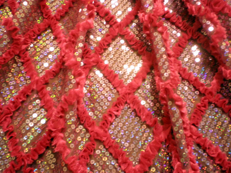 5.Laverder -Fuchsia Diamond Shape Sequins With Ribbon