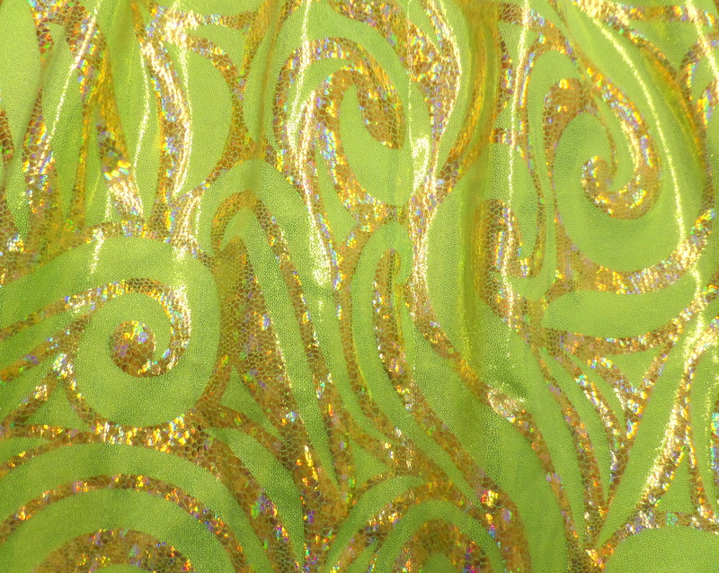 5.Gold-Lime Lacey Hologram