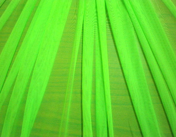 5.Neon Lime Plain Soft Stretch mesh