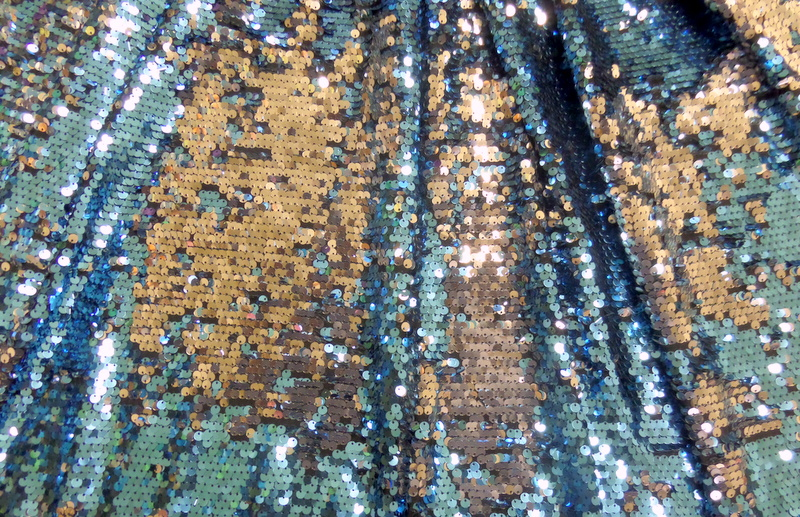 5.Turquoise-Silver Two Tone Sequins