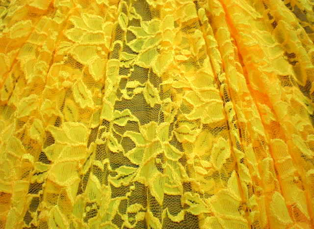 5.Yellow Romance Flower Lace