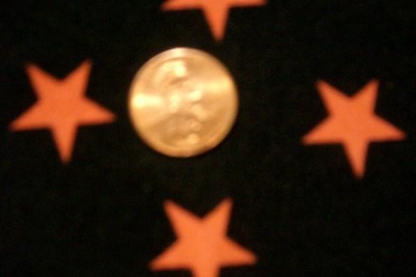 5. Black-Orange Shiny Star