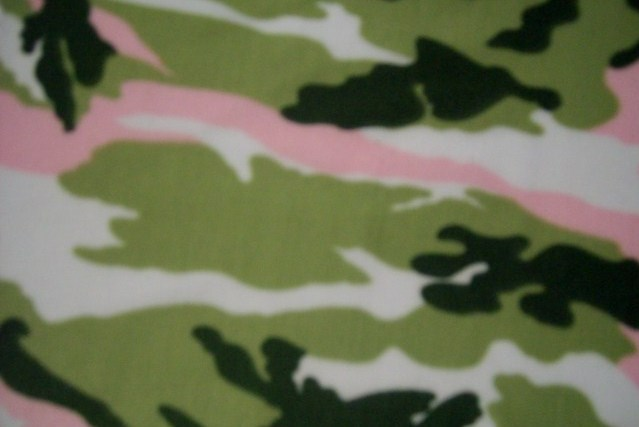 5. Green-Pink-Olive Camouflage