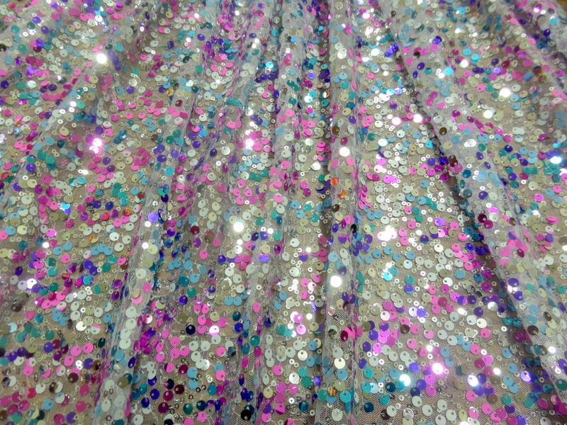 8.White Multi Clear Holo Sequins
