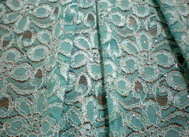 6.Aqua Glitter Lace
